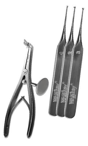 WAMkey crown and bridge remover, post removal pliers